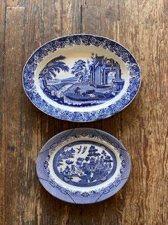"""18"""" Transferware Platter $75.00 Staffordshire Platter $35.00"""