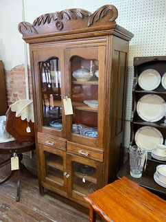 Glass Front Pie Cabinet $695.00