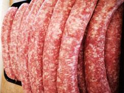 grobe Hausmacher Bratwurst - Fleischerei Bechtel - BBQ Grillfest