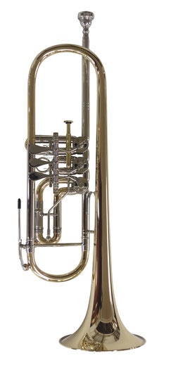 Konzerttrompete K3 Goldmessing, Klarlack