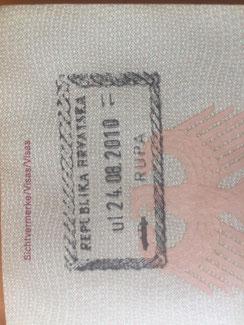 Stempel, Reisepass, Passstempel, coole, außergewöhnliche, Pass, seltene, entfernte Orte, Kroatien