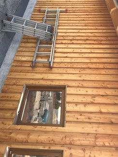 Boden Deckel Schalung aus Lärchenholz unbehandelt mit schmalen Fugen in Balingen - Erzingen