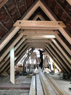 Sanierung Dachstuhl und Giebel