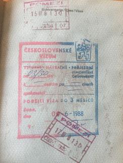 Stempel, Reisepass, Passstempel, coole, außergewöhnliche, Pass, seltene, entfernte Orte, Tschechien, Tschechoslowakei