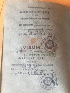 Stempel, Reisepass, Passstempel, coole, außergewöhnliche, Pass, seltene, entfernte Orte, DDR