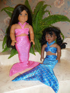 mermaid tail for American girl doll