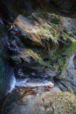Canyoning Tirol Ötztal Auerklamm Alpenrose Rosengarten Tessin Belluno Wasserfall