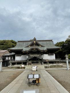 酒列磯前神社拝殿(ひたちなか市磯崎町)