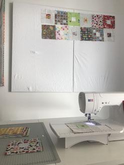 Patchwork Design Wall DIY selber machen Anleitung
