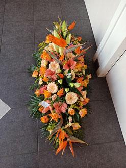 gerbe de fleurs pour obsèques