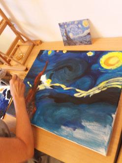 Je kunt ook het schilderij zelf als uitgangspunt nemen