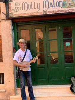 Bernd Winkler Kerkow, Banjolele, Irish Pub in Puerto de la Cruz