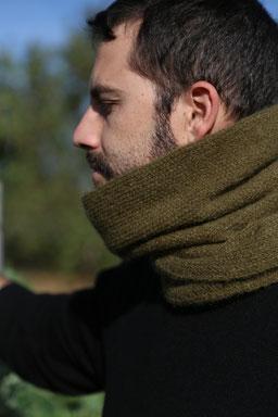 tour de cou en laine écharpe homme