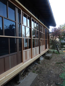 築90余年 古民家再生 縁側 木製建具
