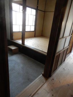 築90余年 古民家再生 土間と板の間