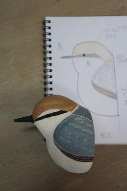 陶芸家 焼き物 陶芸作品 茨城県笠間市 土鍋作品 粉引き作品 野鳥 鳥の飾り かわいい壁飾り 陶器の鳥 鳥