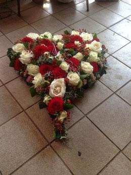 Herz in rot und weiß