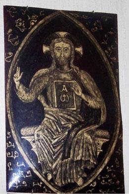 grisaille d'or réalisée par les moines de Ligugé
