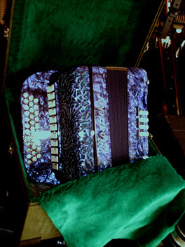 Hand Harmonika,diatonisch Club,33 5 12,Cassotto, blau marmoriert
