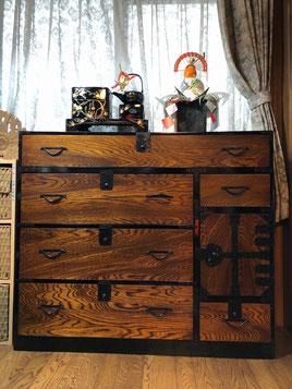 時代箪笥修理、設置写真