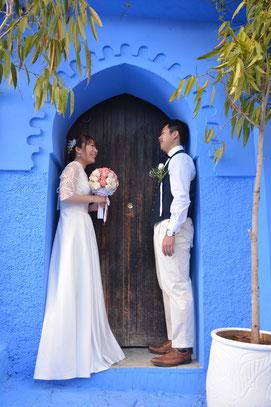ドアの前で撮影も可愛く仕上がります♪