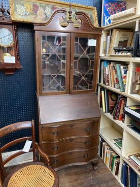 Drop Front Secretary with Glass Door Bookcase $295.00