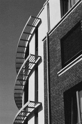 """Form-Struktur-Kontrast"" | minimal-Architektur | 2019 | Hybridfotografie"
