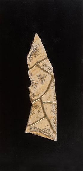 Quadro scultura - pietra fossile  tecnica kintsugj