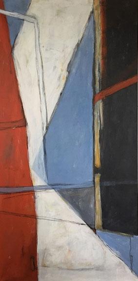 Farbfelder 3, Acryl, 150 x 75 cm, 2017