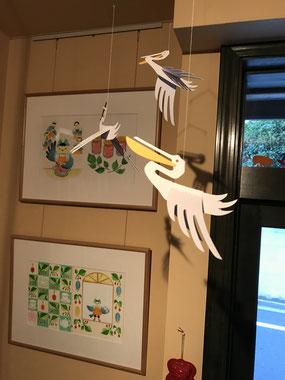 「ようこそ!ティールームことりへ」絵本原画展 貝の小鳥