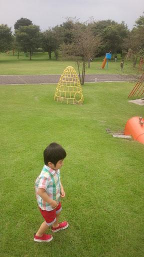 外で遊ぶ子供の写真