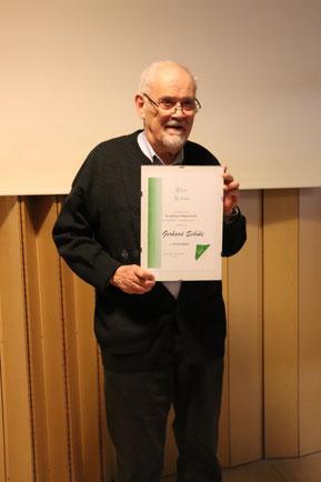Gerhard Schüle, seit 60 Jahren Mitglied der SV Arnum