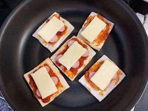 高野豆腐のピザ焼く前