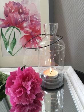 Windlicht TINGEL Sommer Glas Hängen leicht Geschenk Idee Ambiente Collection Design