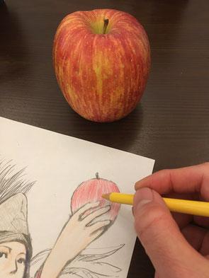 絵を描いている画像