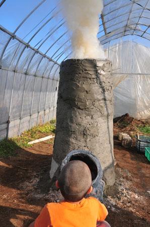 石窯 マスストーブ 自然栽培 農業体験 体験農場 野菜作り教室