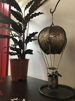 globo aerostatico porta vela, accesorios de decoracion originales, portavelas originales, donde comprar accesorios de decoracion originales