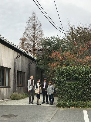 熊澤酒造入口にて