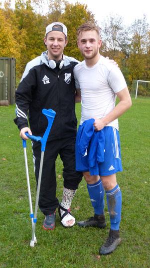 08.11.2015  li. Rico Wolf (FC ST. Michaelisdonn) & Marco Bojens (SG Windbergen/Frestedt)