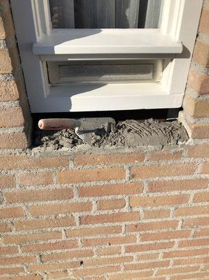 2. Verwijderde raamdorpel