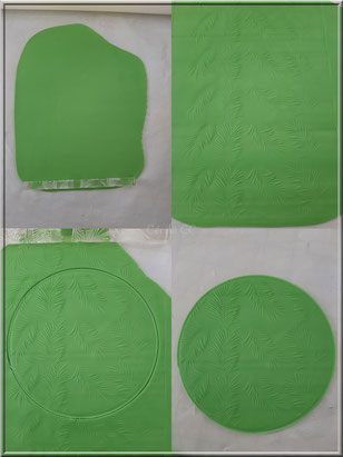 Réaliser un cercle texturé en pate amande ou pate à sucre