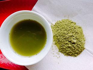 静香園の深蒸し茶粉末茶