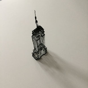Empire State Building - art deco 3d sketching by Heidi Mergl Architect