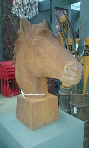 Pferdekopf Gusseisen Lebensgroß
