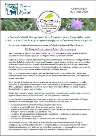 1er Prix Pratiques agro-écologiques CGA Ferme de Mareil p.1