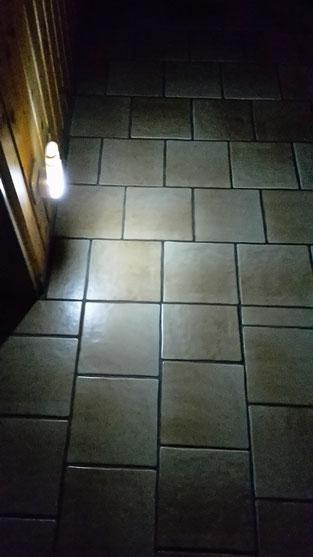 Lampe nach Auslösen des Bewegungsmelders