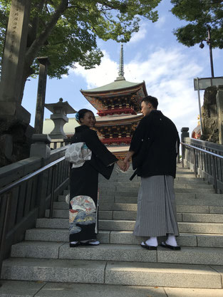 京都で着物を見て来店