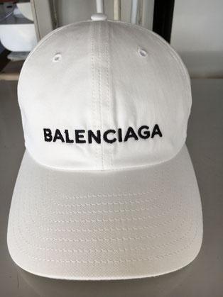 バレンシアガキャップ(白)のクリーニング