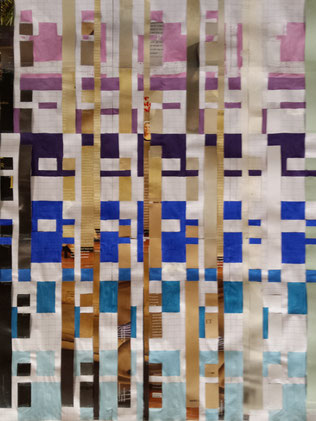 Buildings, Riley in Metz 2012, handwoven, weaving