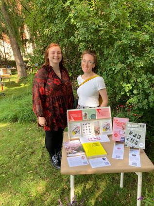 Gemeinsam beim PP Büchertisch auf dem Sommerfest des Börsenvereins in Leipzig
